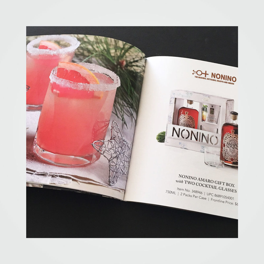 72-page holiday product catalog design for Southern Glazer's Wine & Spirits