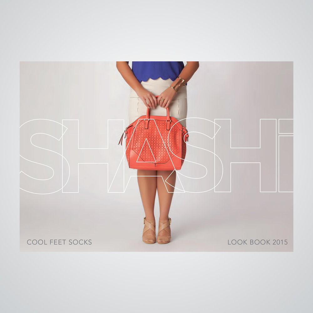 Apparel look book for Shashi, makers of specialty socks for Pilates/yoga and for everyday wear