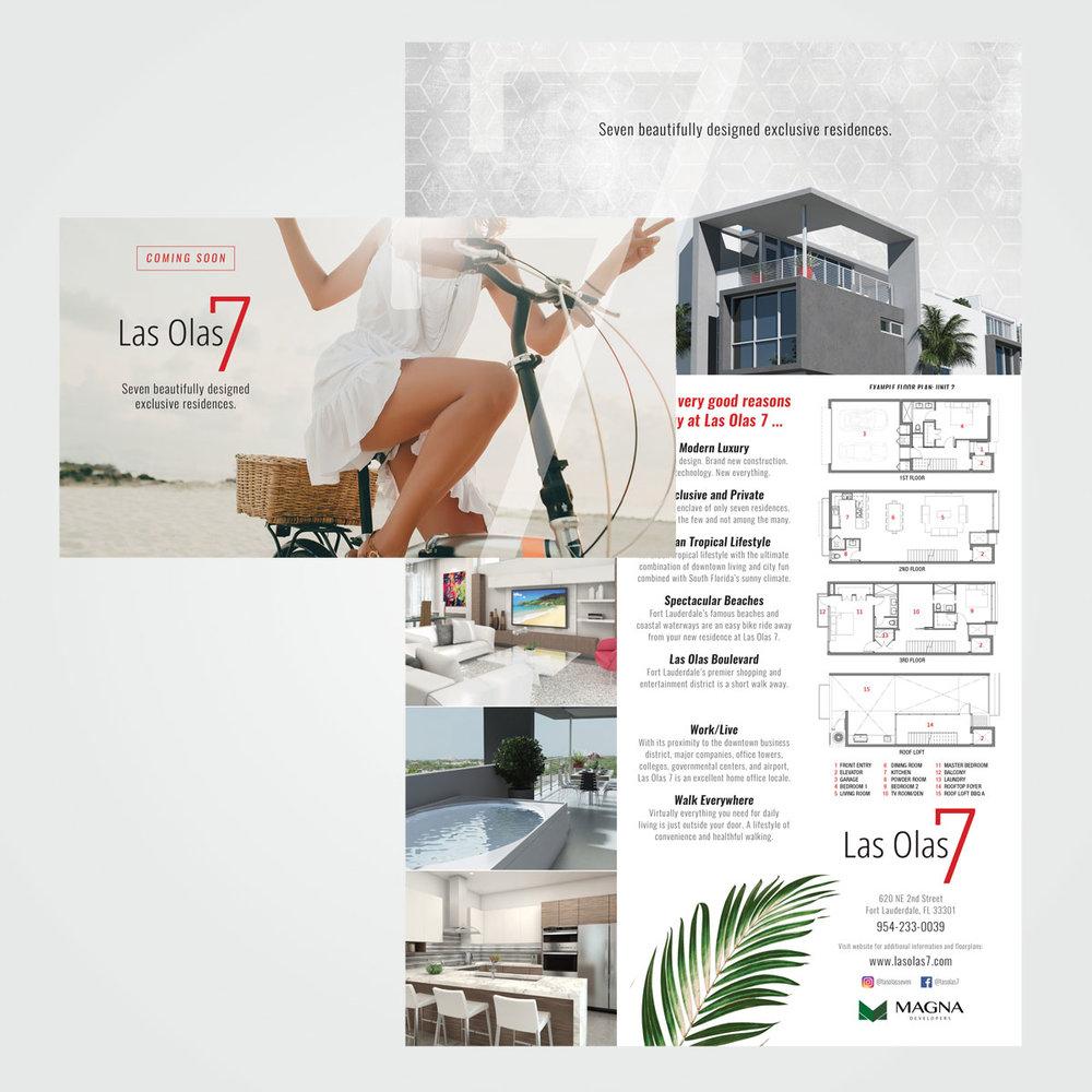 Brochure for Las Olas 7 real estate development