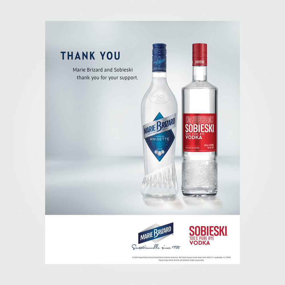 Trade magazine ad for Marie Brizard Wine & Spirits