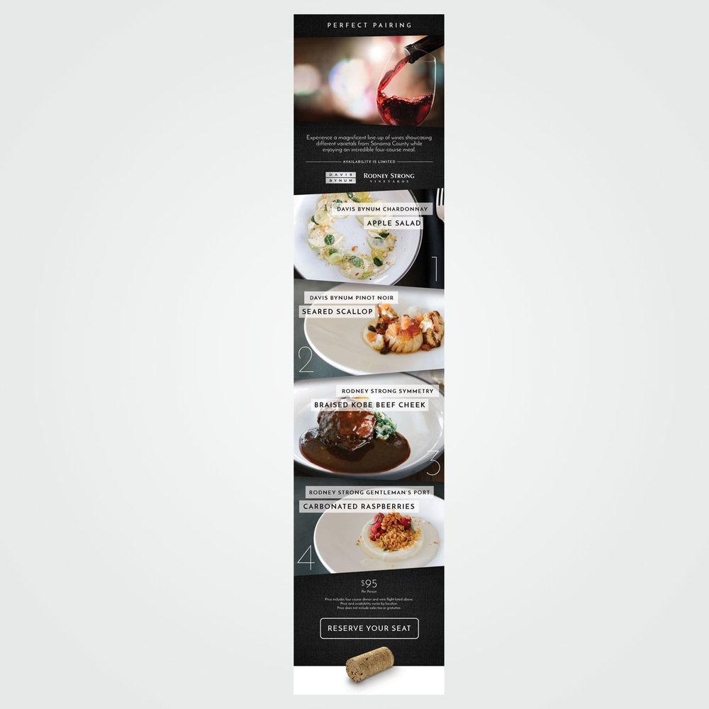 E-mail marketing graphics for Shula's Restaurants