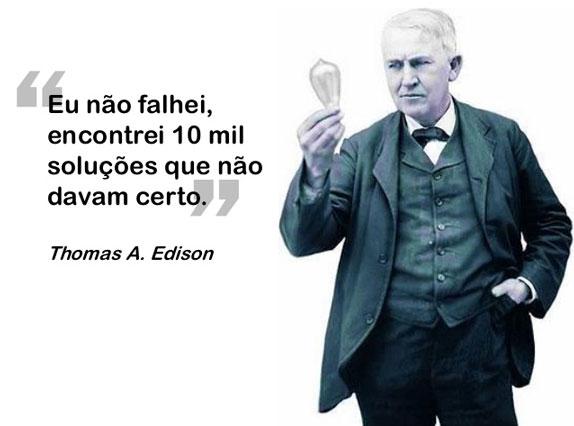 Thomas Edison encontrou 10 mil soluções