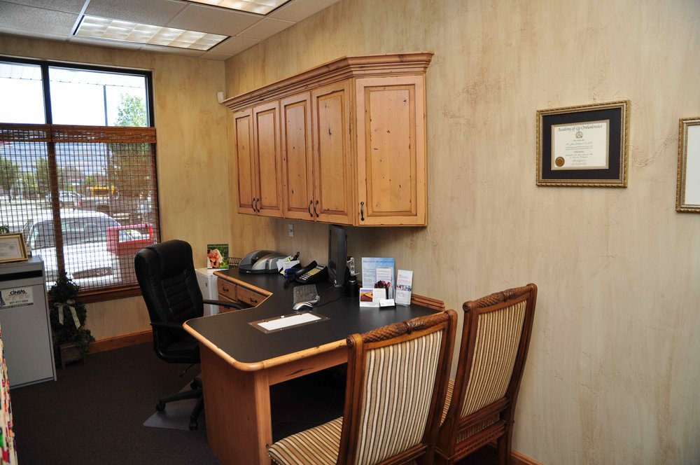 Dr. Luke Petersen's office at Cornerstone Dental Care