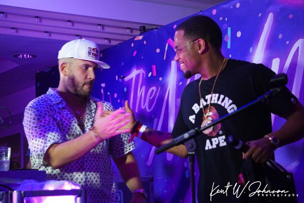 DJ Drama & Mack Wilds at McDonald's Midnight Mix After Party