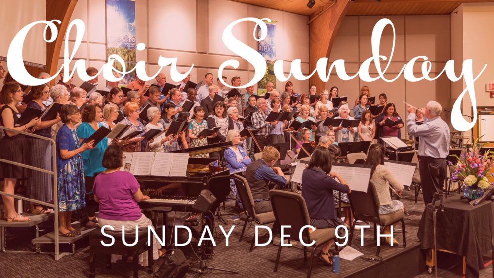 We're excited to be putting together a 50+ voice choir, with orchestral accompaniment on Sunday December 9th. You won't want to miss this!