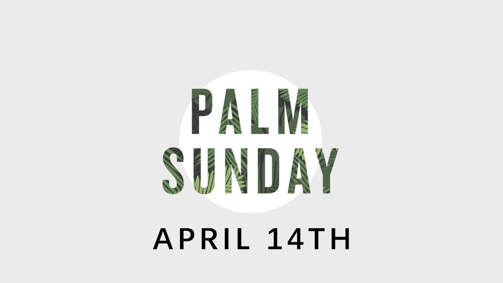 Sunday April 14th is Palm Sunday! Come celebrate the triumphal entry of Jesus with us. There will be a church choir, and Pastor Daniel will share from Mark 14.