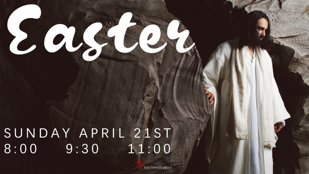 He Is Risen! Come celebrate the resurrection with us Sunday April 21st at 8:00, 9:30, and 11:00.