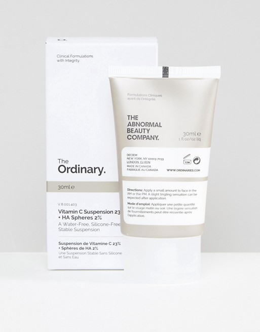 Vitamin C Suspension - The Ordinary - Priced at £4.90 The Ordinary have created a range of products that pack a serious punch when it comes to active ingredients. These guys know their skin science. Their formulations are purely active ingredients minus the frills and the hefty price tag. The 23% Vitamin C suspension is an overnight ticket to bright and clear skin. This baby will shrink spots to pinpricks and give your skin a tight, dewy and fresh appearance. Thank me later.