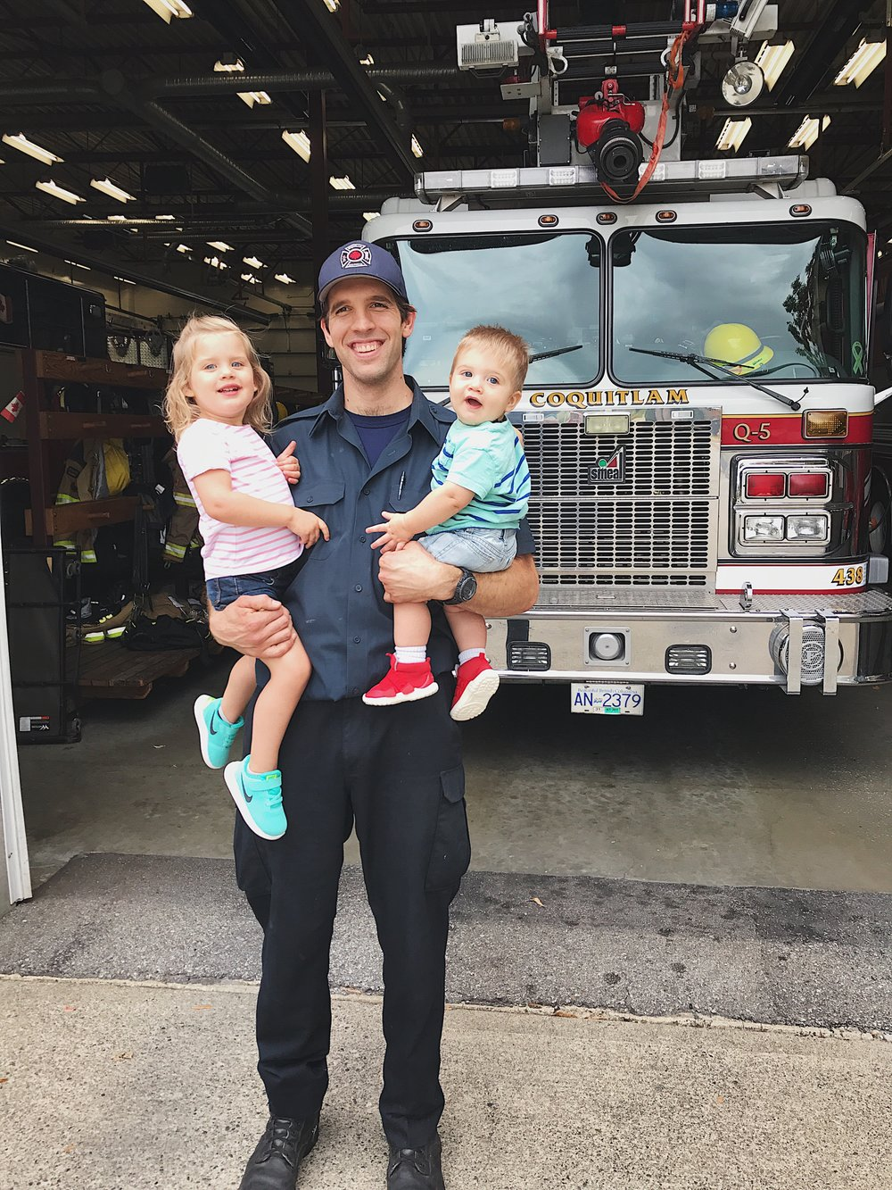 For the first time, I was well enough to take the kids to visit Zach at his fire hall!