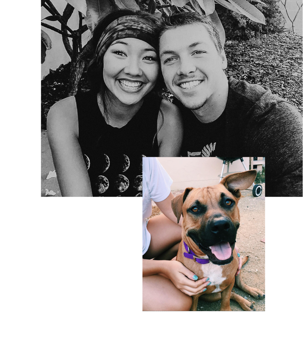 - HEY GIRL, HEYYY.I'm Charissa (and that's my husband, Jonny, over there). And yes, that's a selfie, taken with a selfie stick and absolutely no shame. We got married in 2016 and I convinced him (and my landlord) to let us adopt a dog in Kauai on our honeymoon. We live in a little, one-bedroom cottage with our pup, Kirra, in Northern California. You can catch Jonny casually running a half marathon around our neighborhood. You can catch me taking naps and binge watching Meredith Grey's face.I have always been so freakin' fascinated with people and what makes each person tick. My heart has always been to help people and make sure they feel loved (I'm a 2w3. Any fellow enneagram lovers out there?). This is honestly why wedding photography is my jam because being there for people is literally just my favorite.