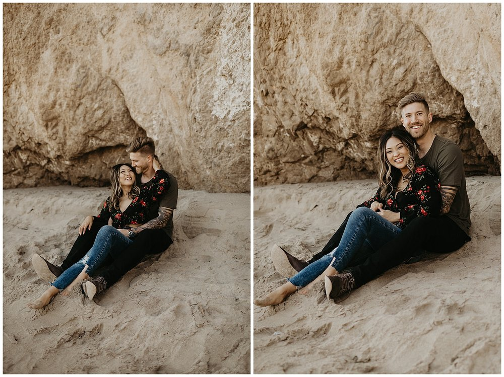 malibu beach cliff engagement session_0010.jpg