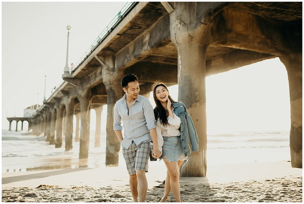 manhattan beach pier beach engagement_0004.jpg