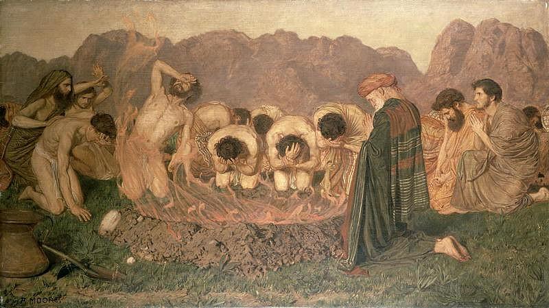 "Albert Joseph Moore, ""Elijah's Sacrifice"""