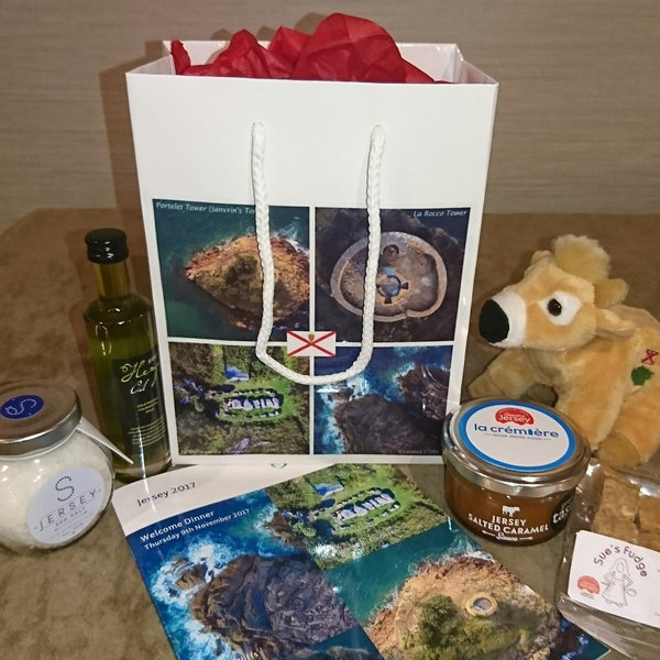 Hemp in the goodie-bag at the British-Irish Council in Jersey - courtesy of the Jersey Evening Post