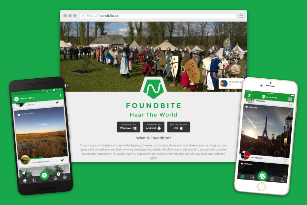 Foundbite - An app for iOS, Android and Windows Phone that allowed users to share and explore the sights and sounds of the world.Position: Founder, Lead Developer and lots of things in-betweenBuilt with: ASP.NET, Web API, Xamarin, Redis, CouchDB & Windows Azure