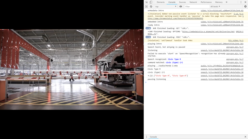 The demo playing in Google Chrome, opening the developer console and running Annyang in developer mode will show you exactly what it is hearing.
