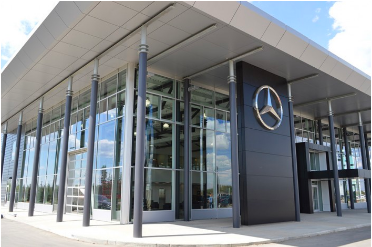 Mercedez Benz Showroom - Steel-Craft SA7000