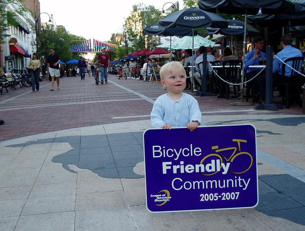 Burlington's Bike friendly community award