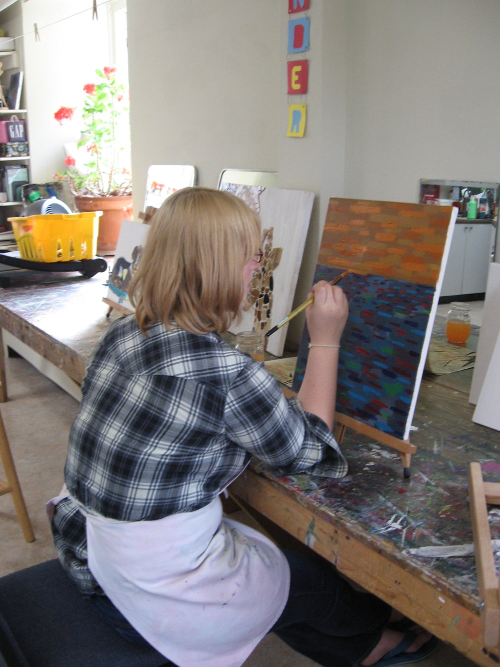 Rock Point School Student painting