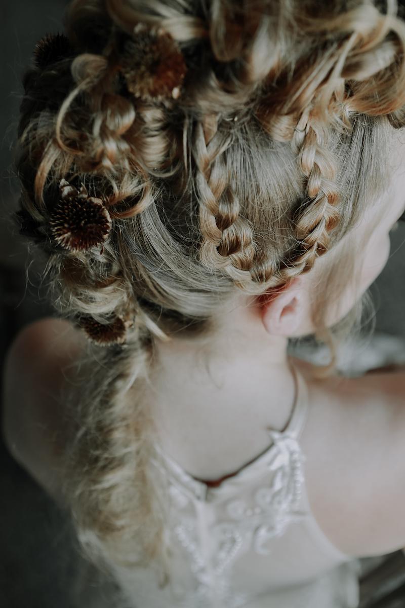Viking style bridal hair