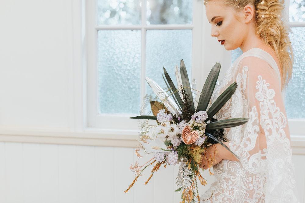 Bloodwood Botanica | Metallic Rose Gold bridal bouquet