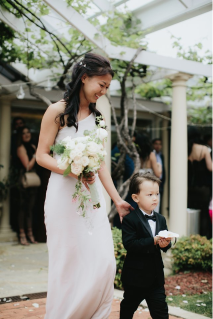 Page boy Noosa wedding flowers