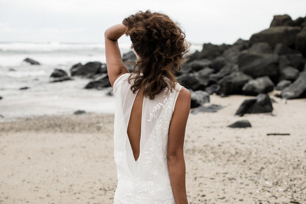 Bloodwood Botanica | Leto bridal the back, oh the back of the gown