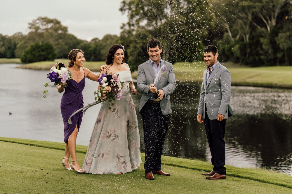 Bloodwood Botanica | bridal party noosa springs champagne shower