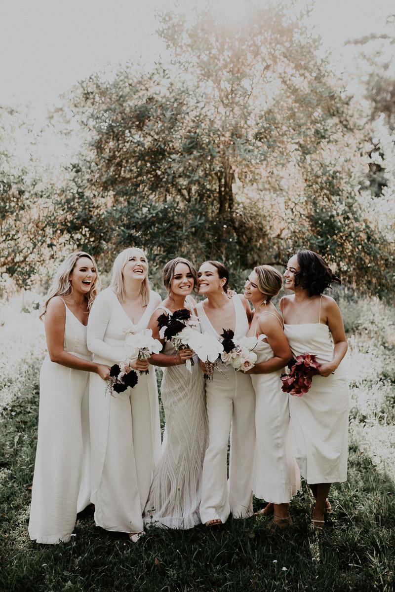Bloodwood Botanica | Bridal bouquet black and white noosa wedding flowers