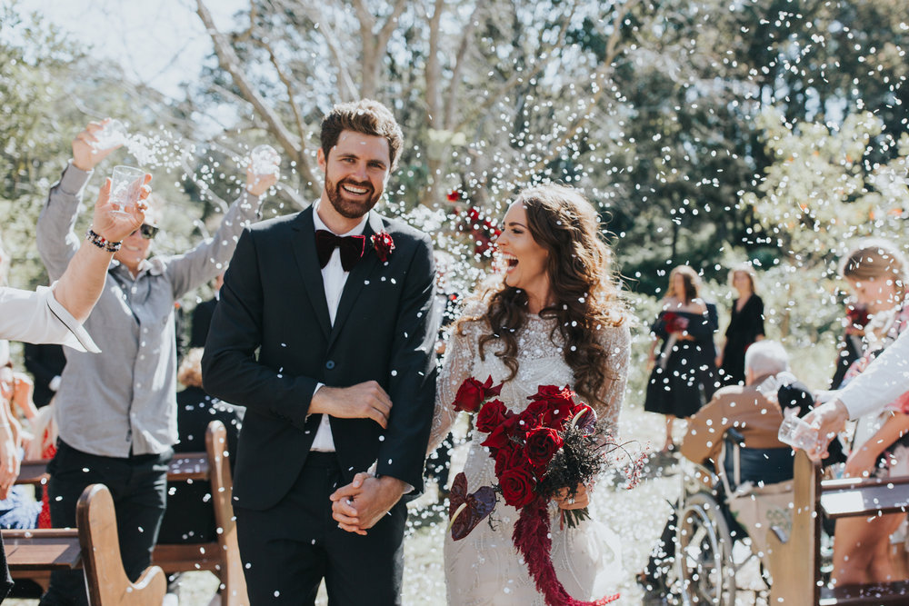 Bloodwood Botanica | Red noosa sunshine coast wedding flowers