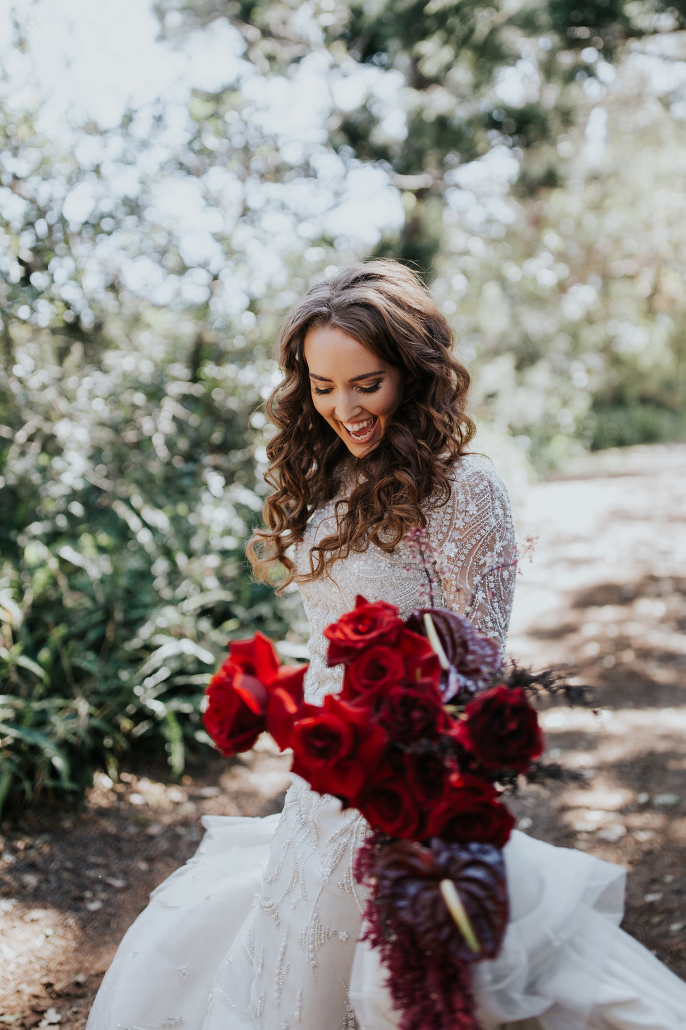 Bloodwood Botanica | Maleny red wedding flowers