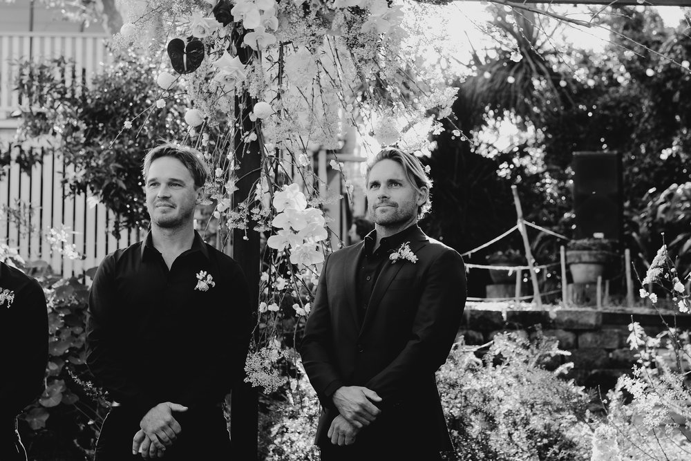 Bloodwood Botanica | The groom awaits