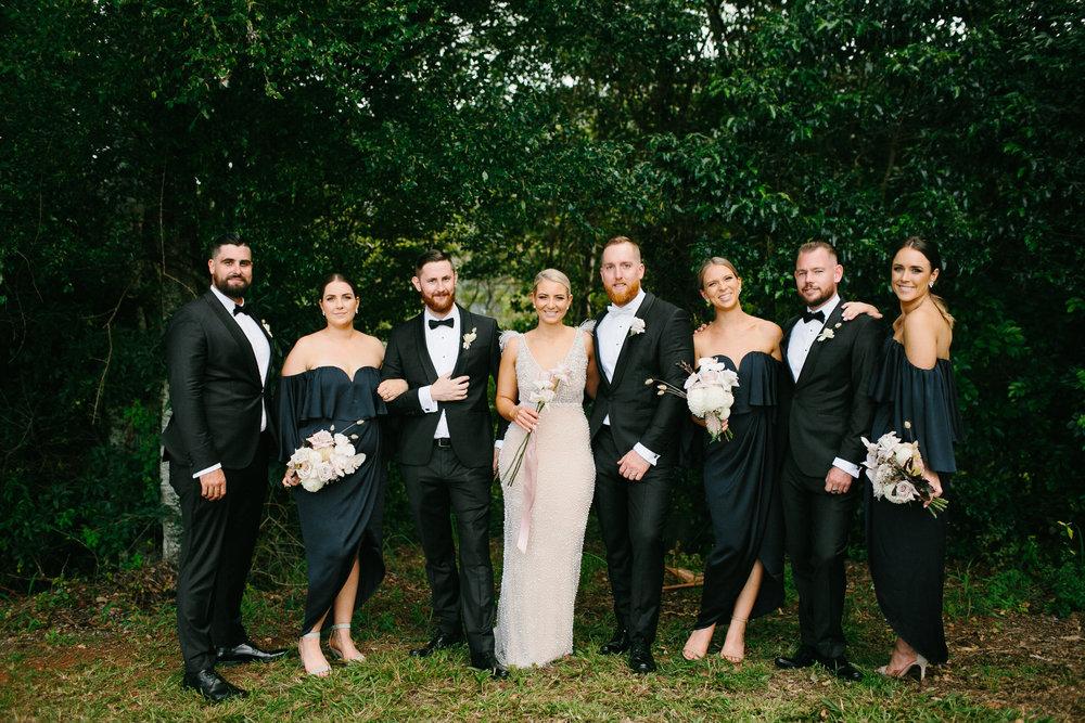 Bloodwood Botanica   Bridal Party byron bay wedding flowers