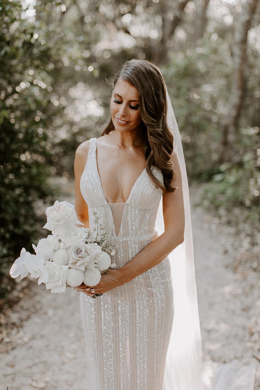 Bloodwood Botanica   white bridal bouquet pallas