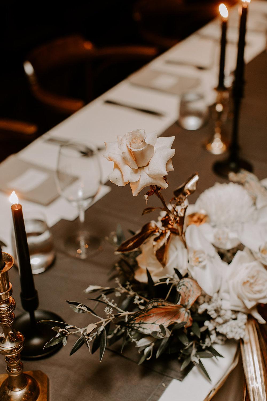 Bloodwood Botanica   Bridal table flowers