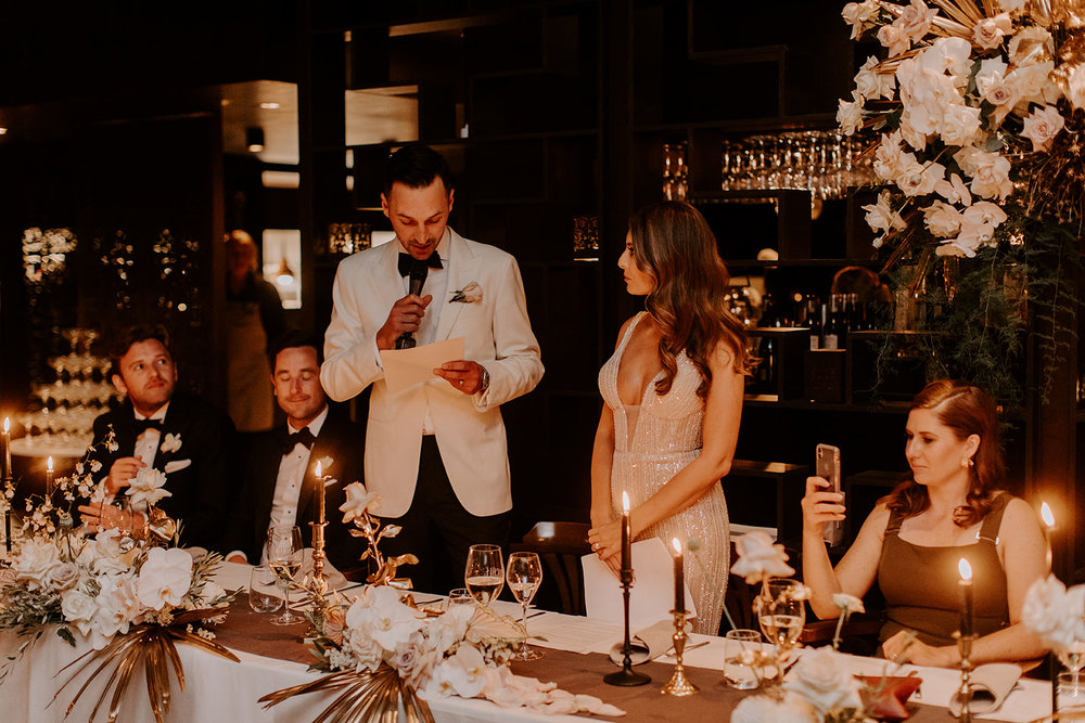 Bloodwood Botanica   Bridal Table speeches Locale wedding flowers