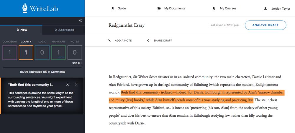 WriteLab Editor | Elegance