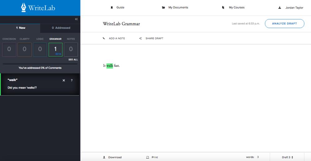 WriteLab Editor | Subject-Verb Disagreement