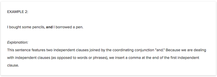 Coordinating Conjunctions Simple Examples Writelab Blog