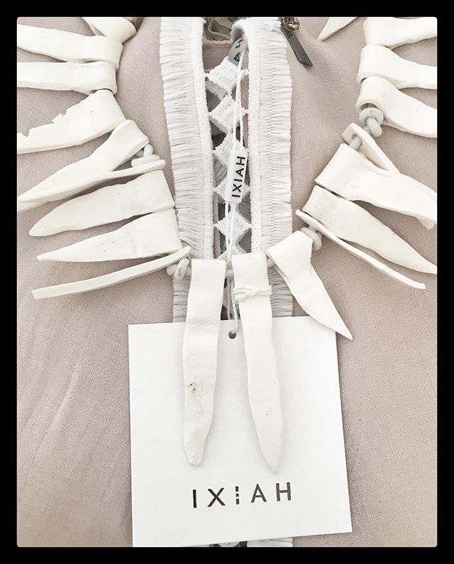 IXIAH SS16 Collection  So excited to showcase some of these exciting pieces, all handmade from clay! ❤️
