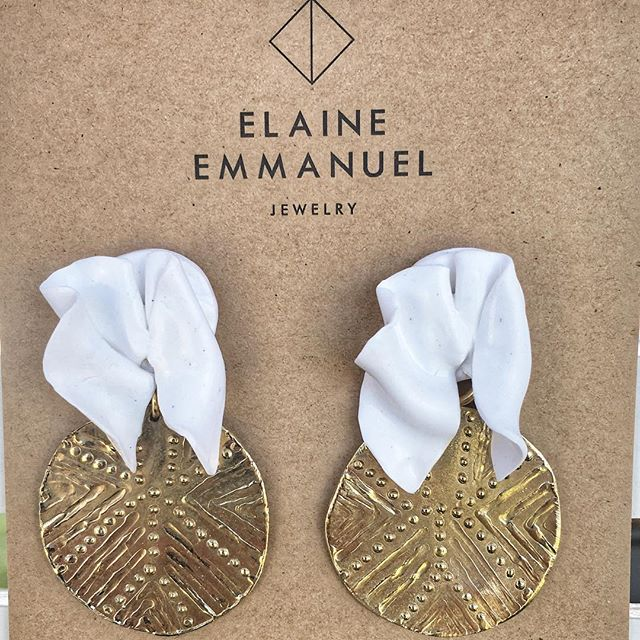 I have been away a while now, but I'm back and ready to get back in the game!! Thanks to @lexidecora for the company and @sunshinecoastcollectivemarkets for having us!  The full collection will be online soon.... in the meantime, enjoy this piece. The 'Hear Me Speak' Sculpted Brass and Clay Earrings ❣️