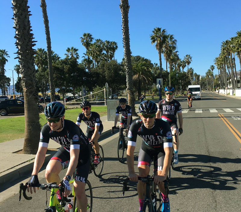 Wyld Stallyns on the roads around Santa Monica. Like Jamison, they are in our Pro Aero II jersey.