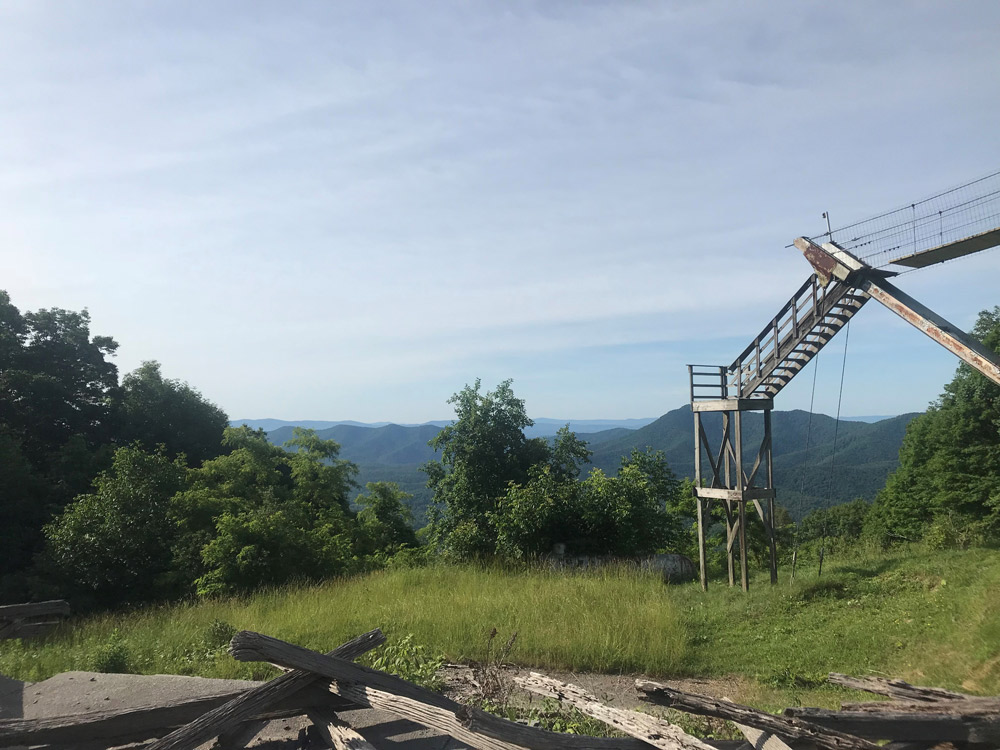 The view from Big Walker Mountain. If you feel like it you can go up to the top of the tower.