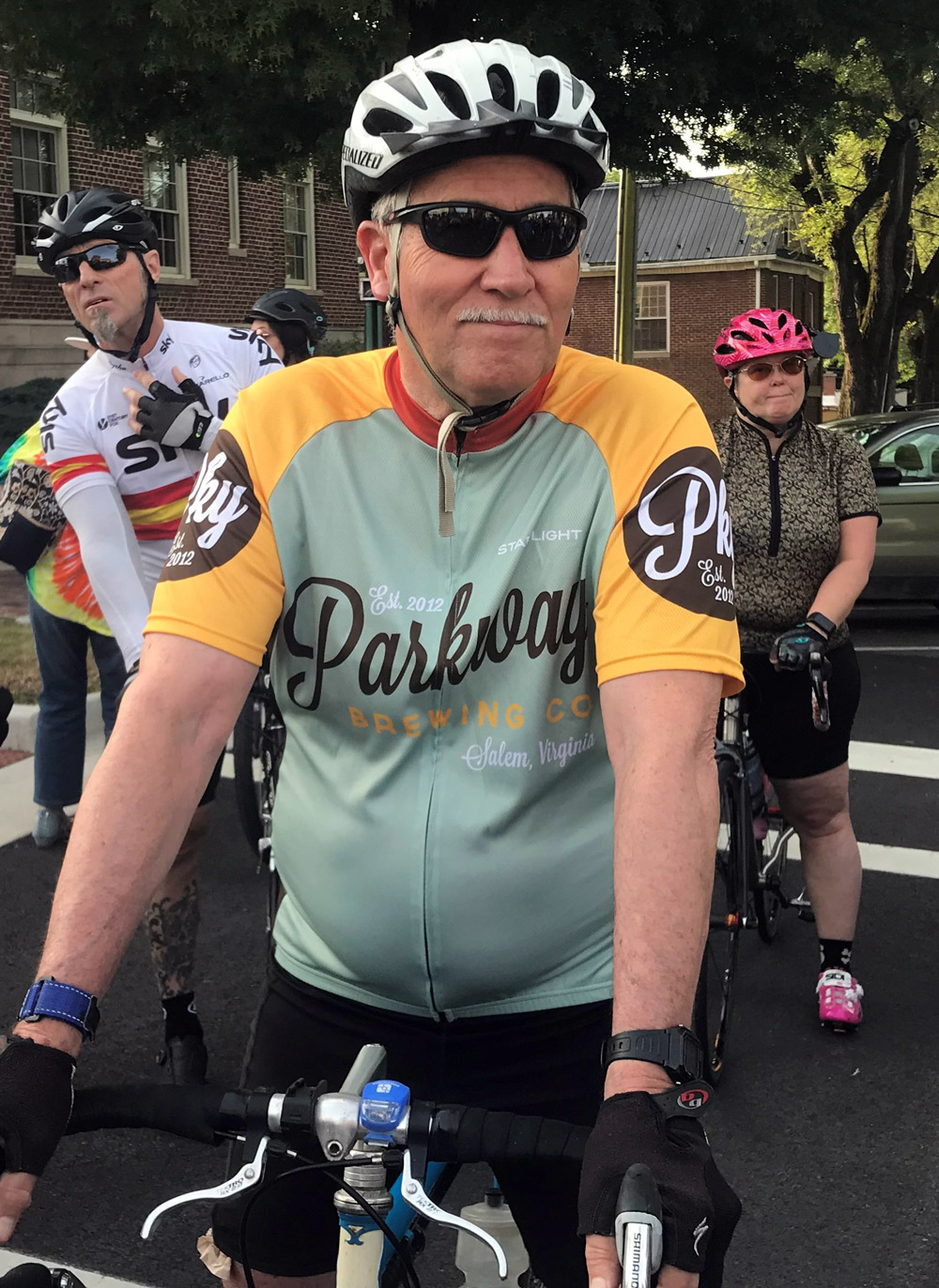 I saw a lot of our jerseys out. This Parkway Brewing top is a Starlight favorite
