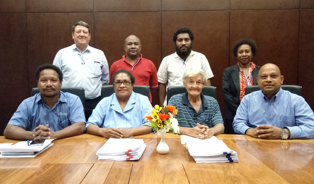 REPRESENTATIVES FROM PNG MARITIME AND TRANSPORT UNION AND ICTSI SOUTH PACIFIC SIGNING UNION AGREEMENT