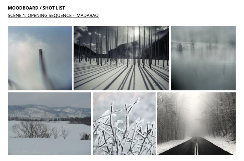 3. Moodboard / Storyboard / Shotlist