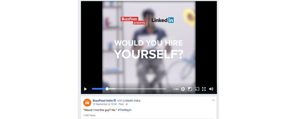 BUZZFEED  content created by Edwin for LinkedIn, India