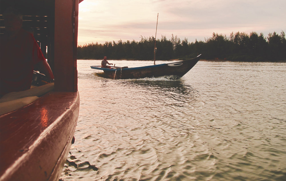 The stunning private sunset cruise at Anantara Hoi An