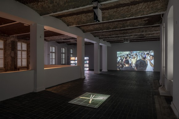 Hiwa K, Installation view Don't Shrink Me to the Size of a Bullet, KW Institute for Contemporary Art, 2017, Photo: Frank Sperling