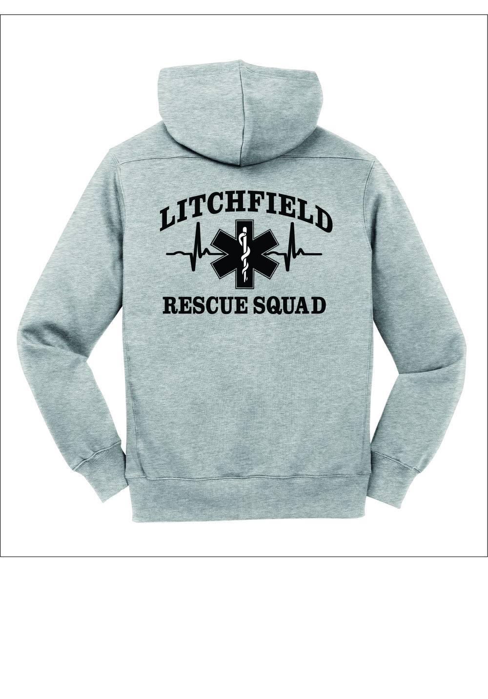 Rescue Squad Gray Lace Up Hoodie — Pursley Embroidery   Design 5c0b9df92